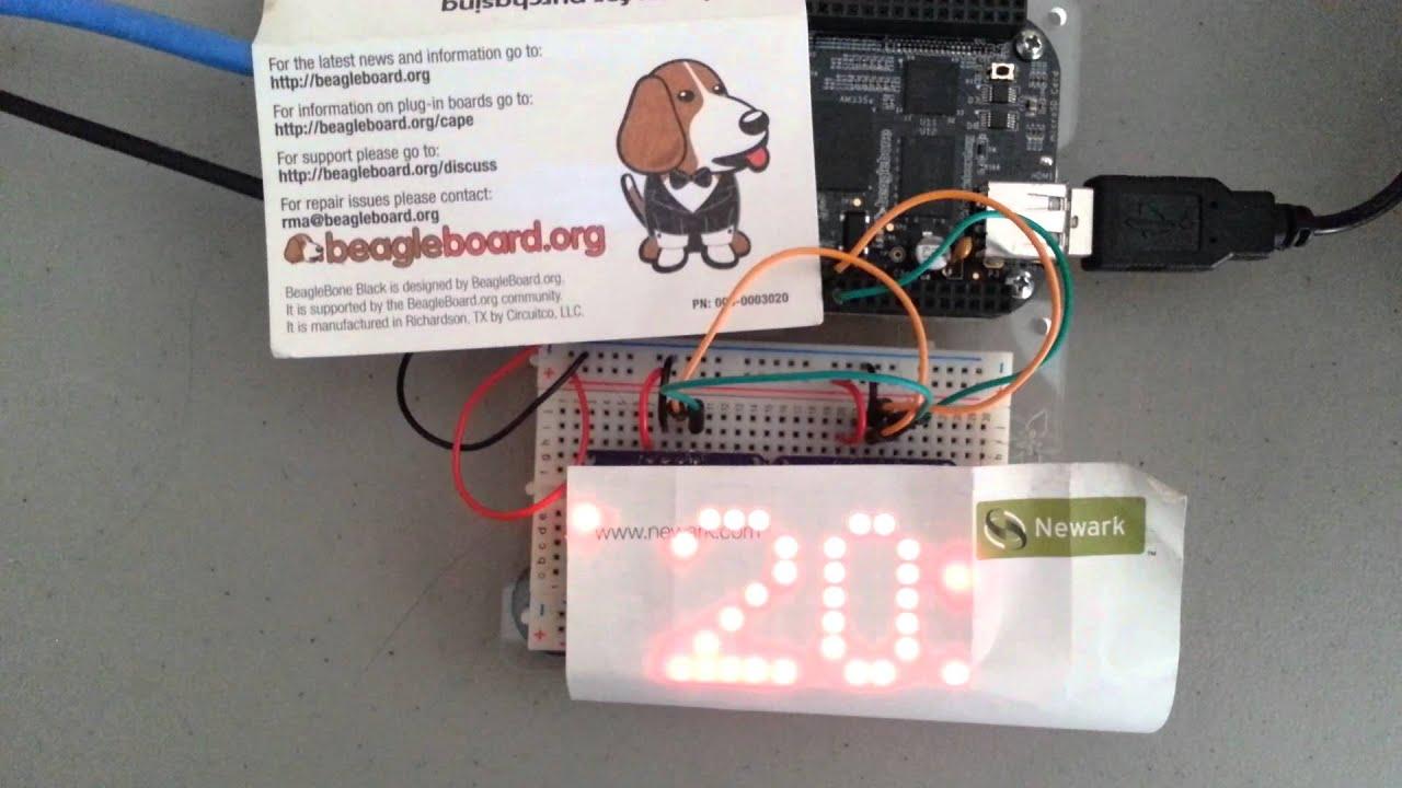 LED ticker: BeagleBone Black & multiple Ada    | element14