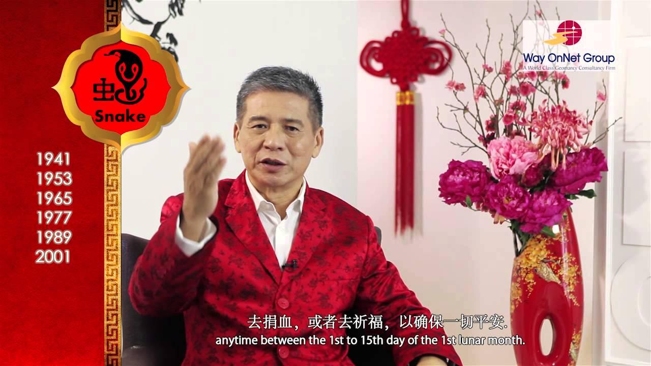 Feng Shui Master 2013 zodiac forecast for snake by grand master khoon