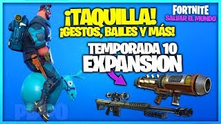 SEASON 10 - TAQUILLA, GESTS, BAILES and MORE! - FORTNITE SAVE THE WORLD