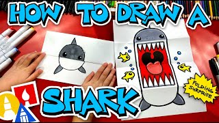 How To Draw A Shark Folding Surprise Puppet
