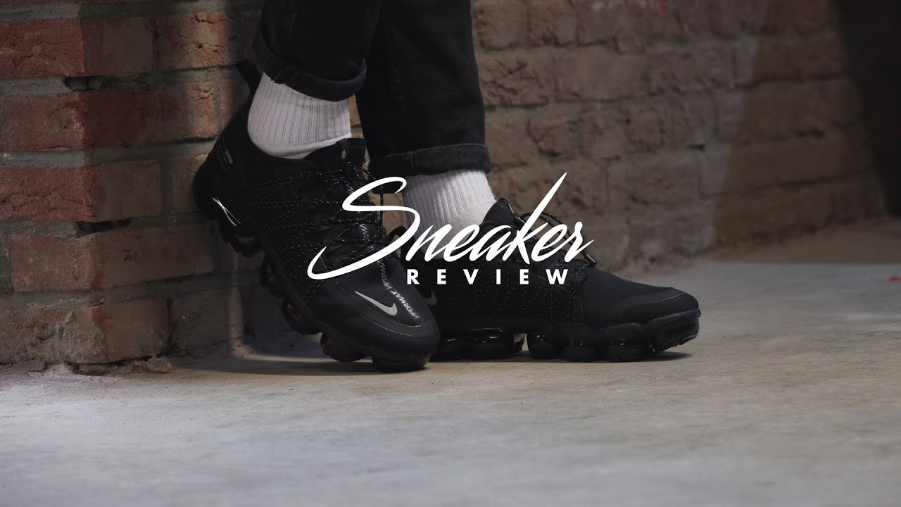new concept 7709d e8c5b Sneakerjagers Review: Nike Air VaporMax Utility 'Triple Black' - YouTube