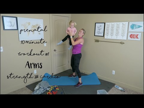 Prenatal 10 Minute Workout #1: Arms Strength & Cardio (20 weeks pregnant)