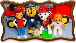Щенячий Патруль мультик из игрушек на русском языке Щенячий Патруль спасают котенка
