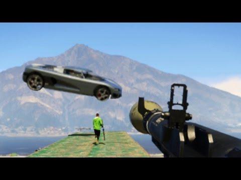 GTA V ONLINE - RPG VS FLYING CARS - تفركيع نايض