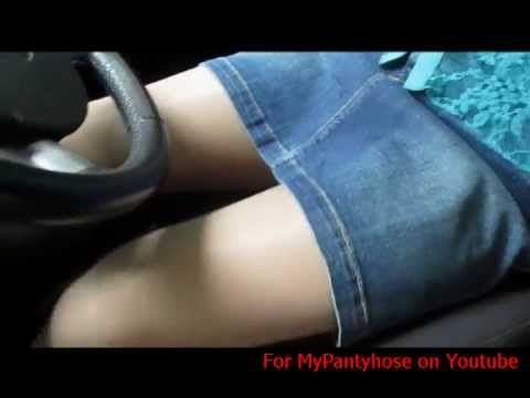 College-girl playing in the car your leg in pantyhose (Студентка играет своими ножками в колготках) from YouTube · Duration:  2 minutes 3 seconds