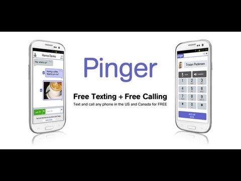 pinger free texting calls app