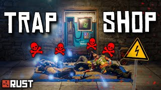 BAITING RICH CLANS into my FAKE SCAM SHOP - Rust Trap Base