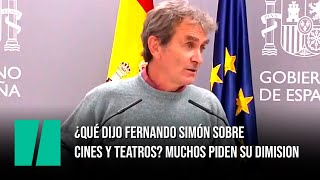 Lo que realmente dijo Fernando Simón sobre el cierre de cines y teatros