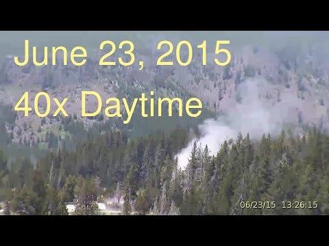 June 23, 2015 Upper Geyser Basin Daytime Streaming Camera Captures