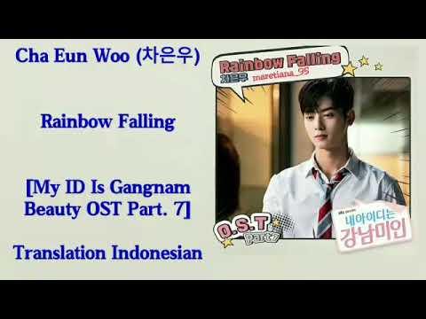 Cha Eun Woo (차은우) Of (ASTRO) – Rainbow Falling Lyrics INDO My ID Is Gangnam Beauty OST Part. 7