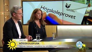 Högskolefusk: Liga misstänks sålt rätta svaren till högskoleprovet - Nyhetsmorgon (TV4)