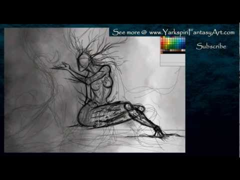 How to Draw Wood NYMPH- Art Illustration Drawing