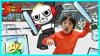 Ryan ToysReview VS. Liste déroulante Panda sur Roblox! Ice Breaker jeu épique!