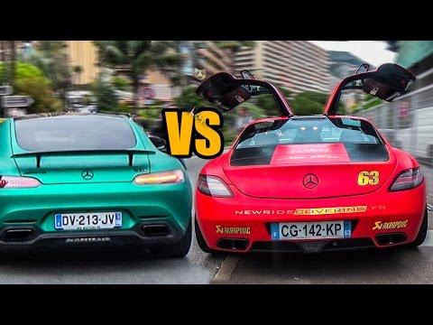 Mercedes-Benz AMG GT S vs Mercedes-Benz SLS AMG - Exhaust Sound & REVS