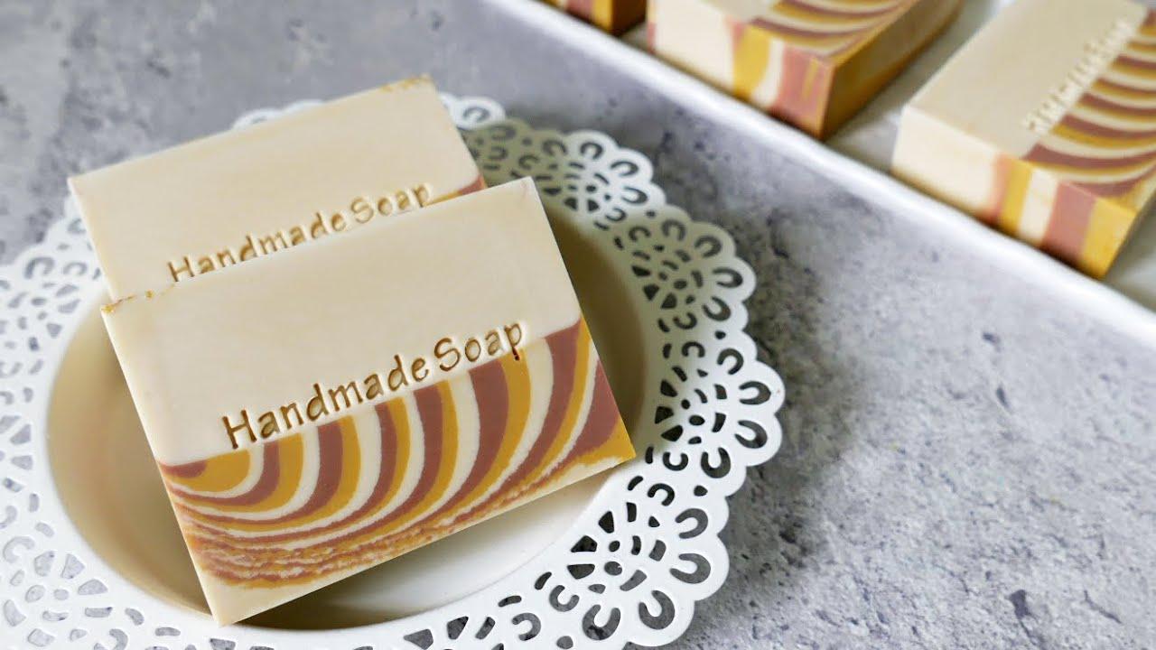 分層斑馬渲染皂 - the tiger stripe swirl handmade soap with layers design - 代製母乳皂