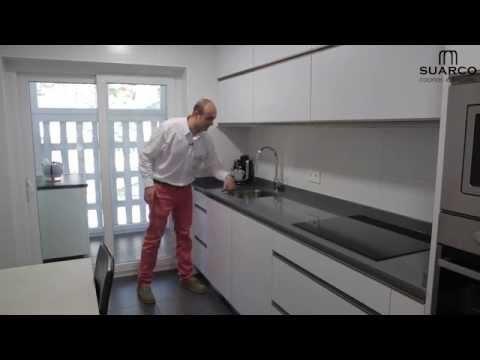 Video cocinas modernas Blancas sin tiradores