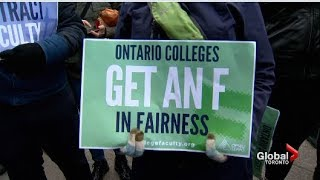 Ontario College Strike - Day 32 -Coverage of the wild 24 hours for workers & students- November 2017