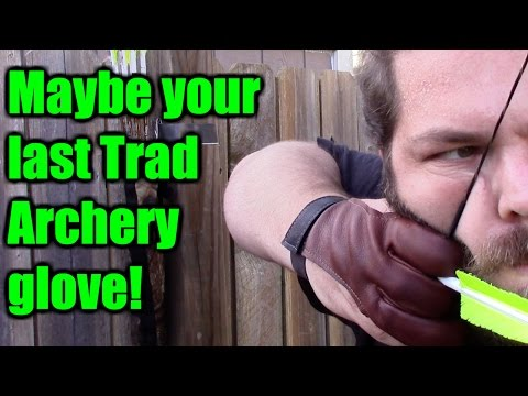 Traditional Archery Review, The Dura Shooting Glove by 3 Rivers Archery