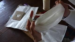 Covid-19: Schutz vor Ansteckung – Maske aus Staubsaugerbeutel (Behelfsmaske)