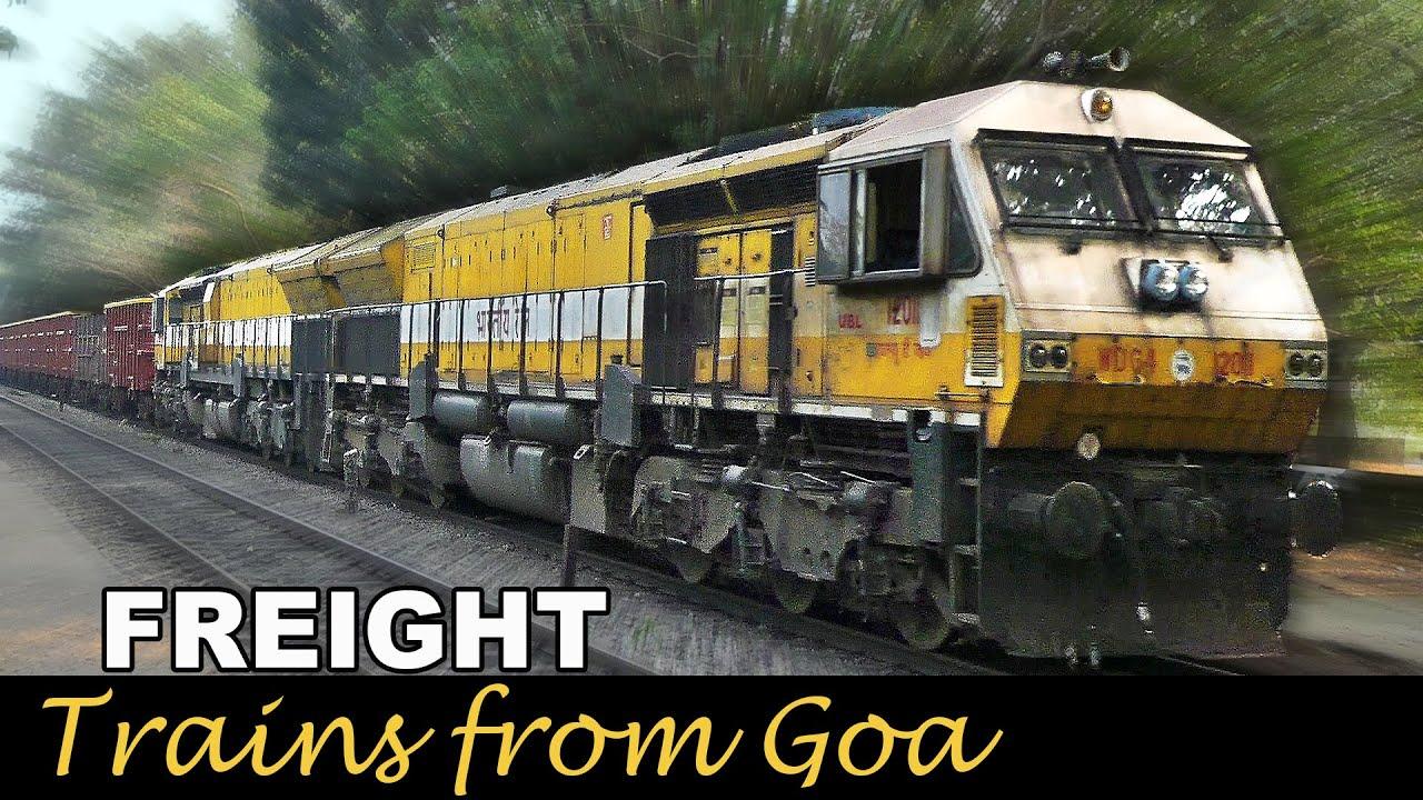 FREIGHT Trains from GOA : Indian Railways EMD heaven