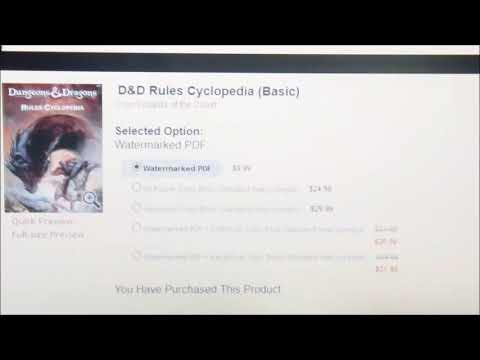 Print on Demand D&D Rules Cyclopedia Now Available!