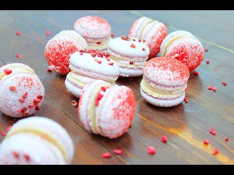 МАКАРОН Малина Манго БЕЗ ТЕРМОМЕТРА / Сублимированные ягоды / Raspberry Mango Macarons