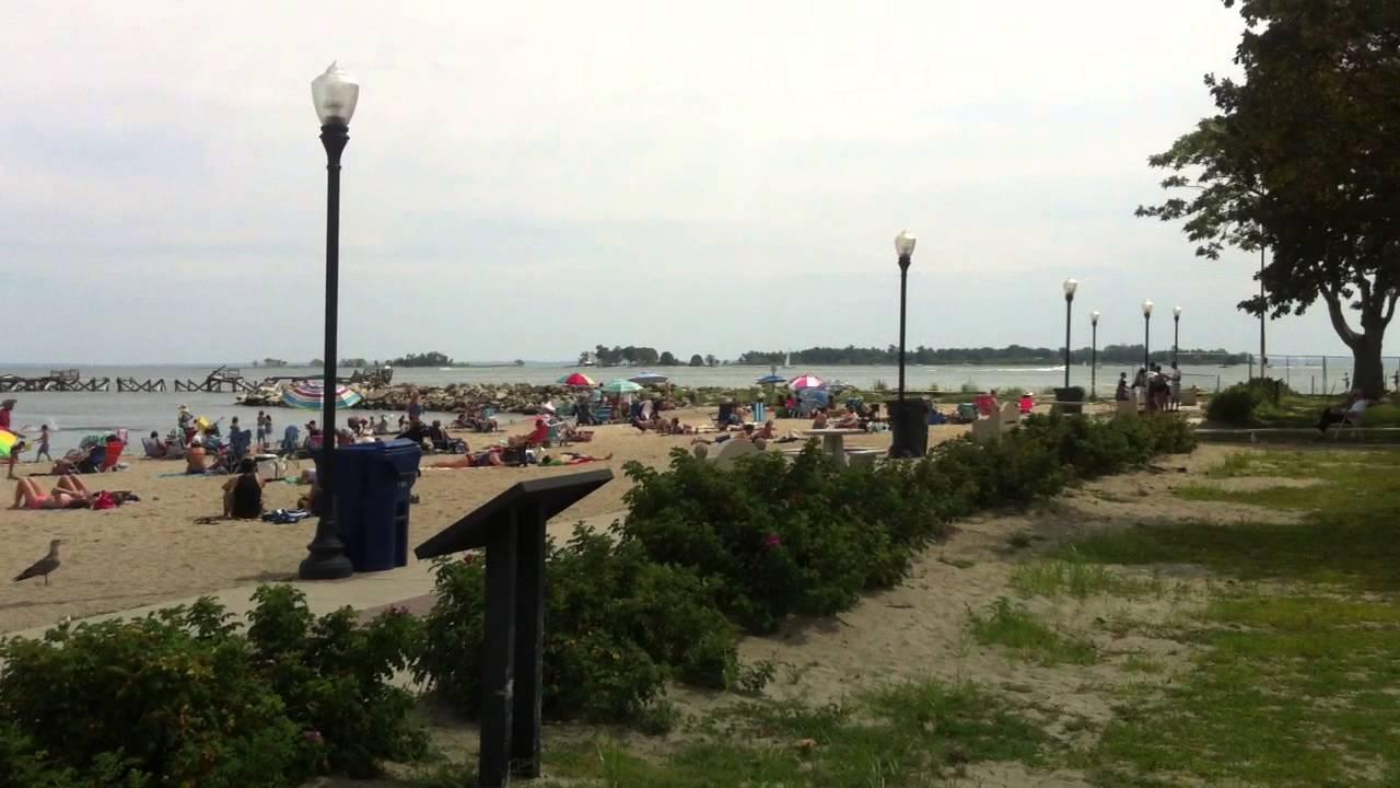 Calf Pasture Beach In Norwalk Ct Panoramic View