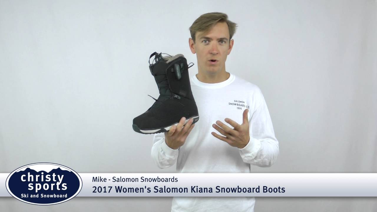 2017 Salomon Women's Kiana Snowboard Boot Review Christy Sports