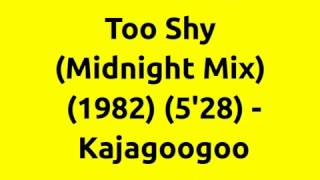 Too Shy (Midnight Mix) - Kajagoogoo | 80s Club Mixes | 80s Club Music | 80s Dance Music | 80s Pop
