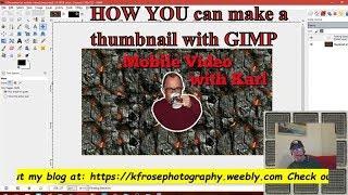 So erstellen Sie ein thumbnail mit GIMP l GIMP-Tutorial