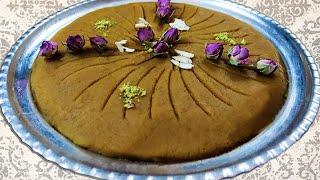 حلوا سه آرد زعفرانی لطیف و متفاوت Iranian Halwa 3Ard, 3 flour combination Persian Halwa