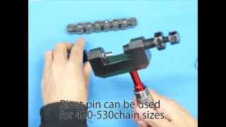 DRC Pro Chain Tool Instruction : Rivet chain pin