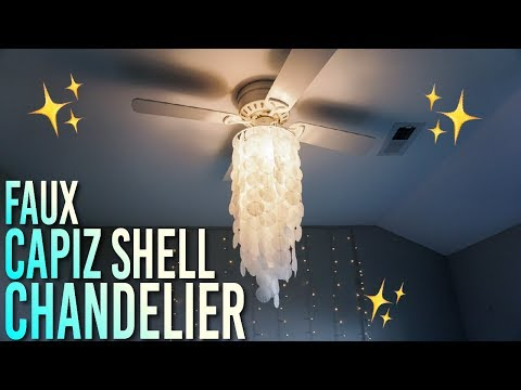 Cheap and Easy DIY Faux Capiz Shell Chandelier