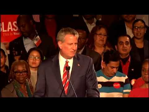 Mayor Bill de Blasio's Victory Speech 2017