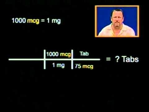 Drug Calculations Problem 4.2 Levothyroxine