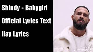Shindy - Babygirl [Text] (Official Lyrics Text)