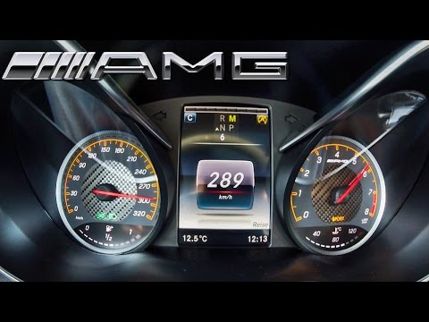 Mercedes C63 AMG Coupe TOP SPEED & ACCELERATION 0-289 Km/h AutoBahn Drive Sound