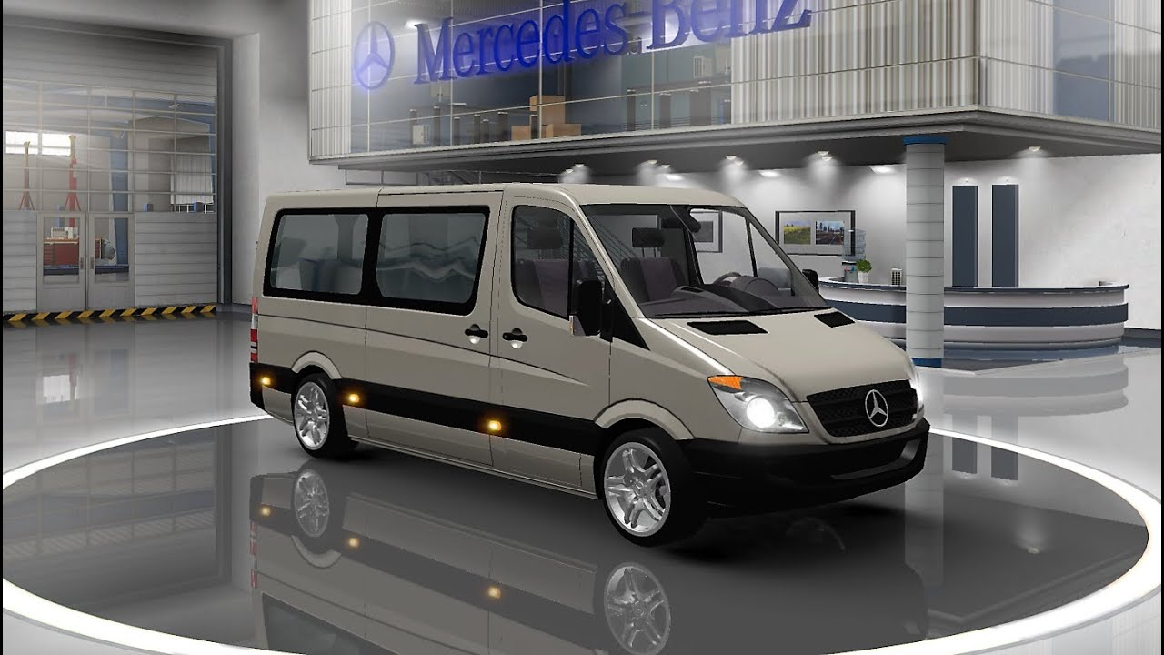 nouveau 2016 euro truck simulator 2 mod bus mercedes sprinter fr hd youtube. Black Bedroom Furniture Sets. Home Design Ideas