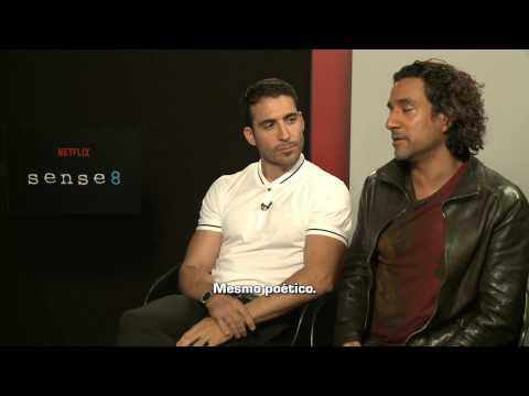 SENSE 8 cast interview - MIGUEL ANGEL SILVESTRE and NAVEEN ANDREWS - with Erica Reis