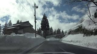 2018年1月11日 道の駅まつだ→道の駅雪のふるさとやすづか