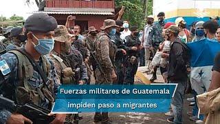Procedentes de Honduras, al menos un millar de personas, en su mayoría hondureñas, se vieron imposibilitadas de entrar a Guatemala para seguir a México y EU