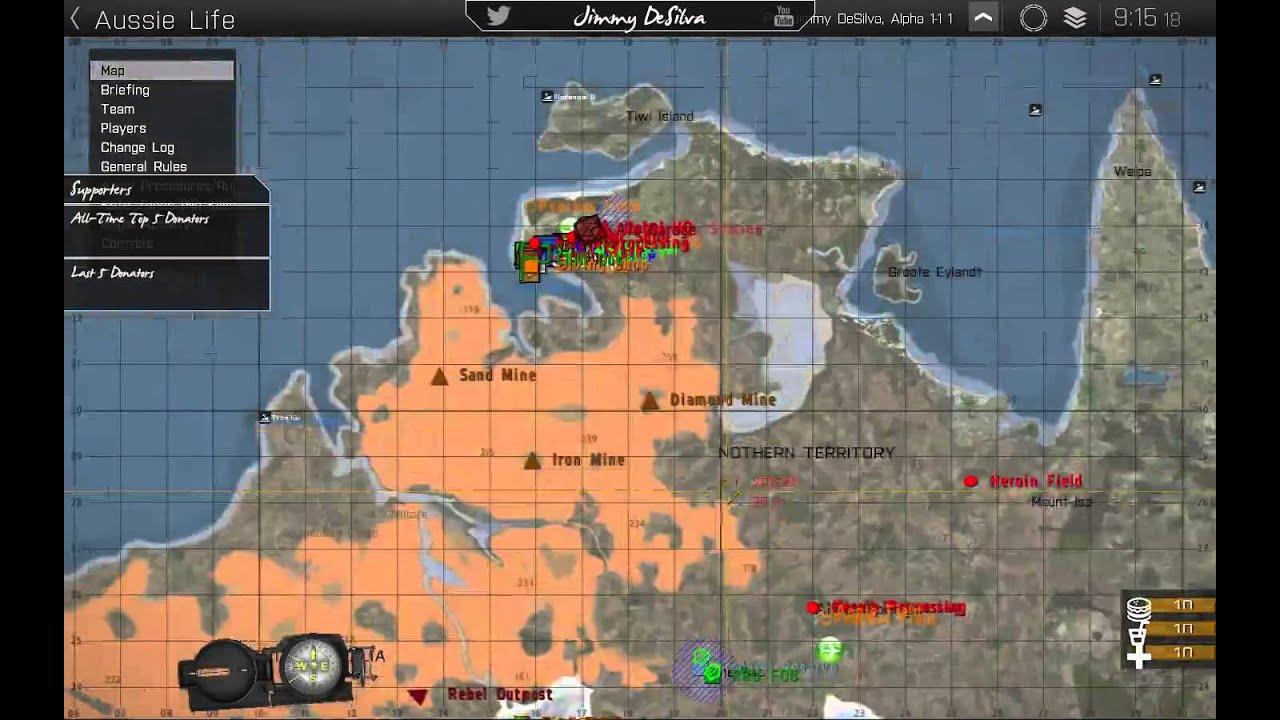 xyz australia map arma 3