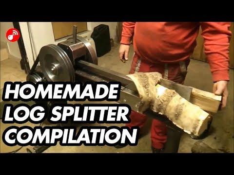 Homemade Log Splitter Compilation