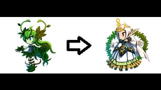 Brave Frontier - Evolving Dryad 3★ to High Elf 4★