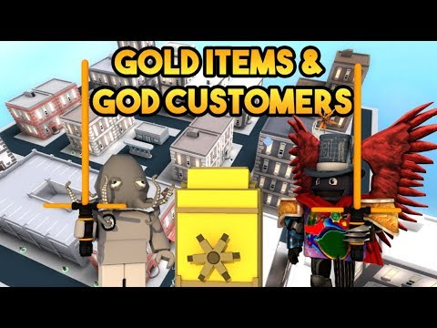 [Roblox] Cash Grab Simulator: GOLD ITEMS & GOD CUSTOMERS (Rebirth unlocking gold items)