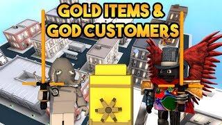 [Roblox] Cash Grab Simulator: GOLD ITEMS & GOD CUSTOMERS (Rebirth unlocking gold items)