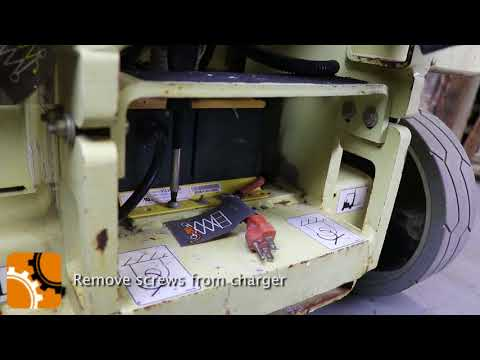 How to Replace a Battery Charger of a JLG Scissor Lift ... Quiq Jlg Battery Charger Wiring Diagram on