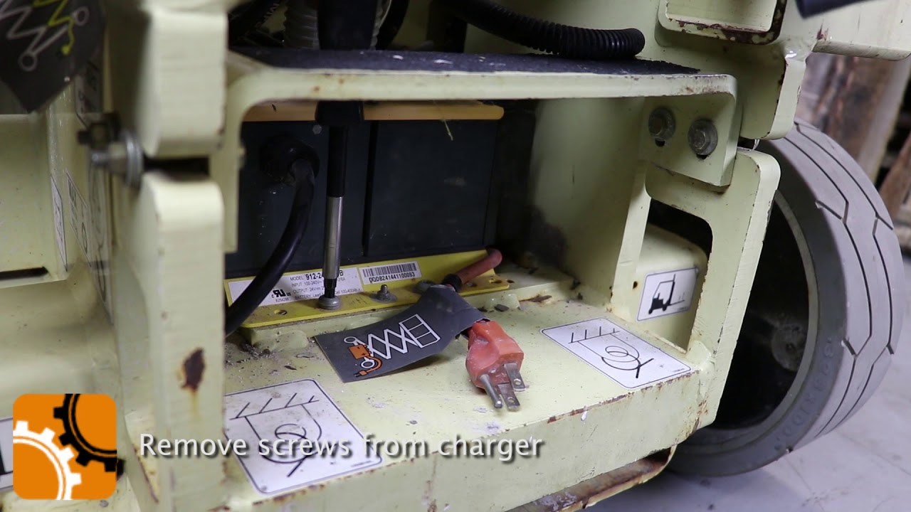 hight resolution of how to replace a battery charger of a jlg scissor lift orangeparts