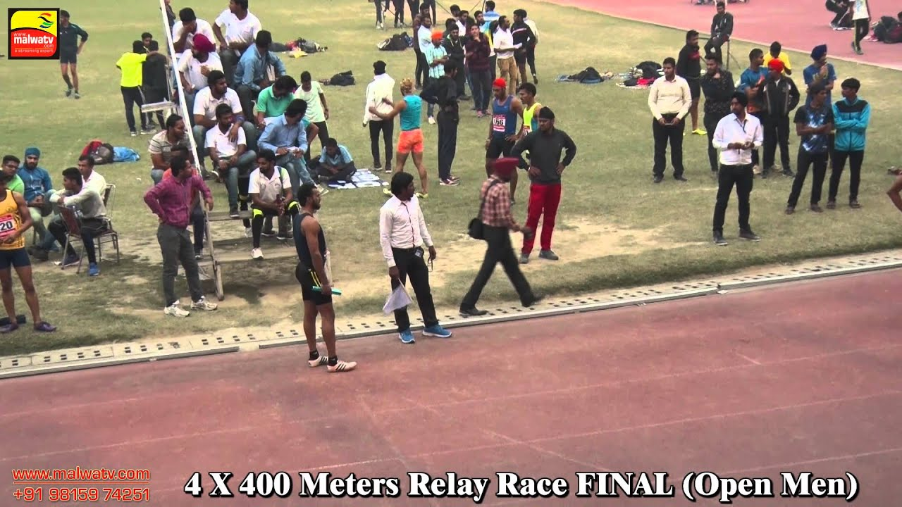 4X400 METRES RELAY | OPEN MEN FINAL | at 90th PUNJAB OPEN ATHLETICS MEET, LUDHIANA - 2015 | Full HD|