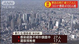 東京都の感染者50人下回るも9人の死亡を確認(20/04/29)
